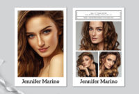 Model Comp Card Template In Comp Card Template Download