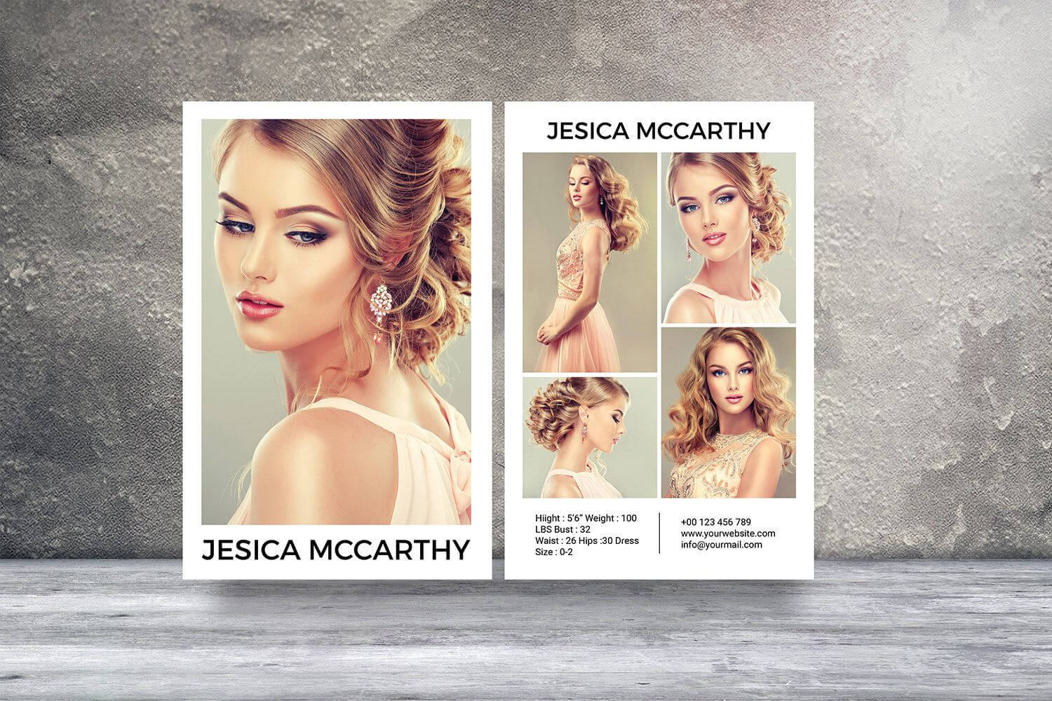 Modeling Comp Card | Fashion Model Comp Card Template Inside Zed Card Template Free