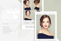 Modeling Comp Card | Fashion Model Comp Card Template pertaining to Comp Card Template Psd