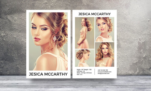 Modeling Comp Card | Fashion Model Comp Card Template throughout Comp Card Template Psd