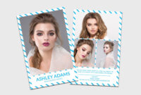 Modeling Comp Card | Model Agency Zed Card | Photoshop in Zed Card Template