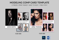 Modeling Comp Card | Model Agency Zed Card | Photoshop & Ms throughout Zed Card Template Free