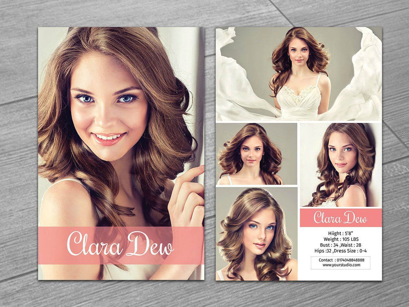 Modeling Comp Card Template | Fashion Model Card | Microsoft With Download Comp Card Template