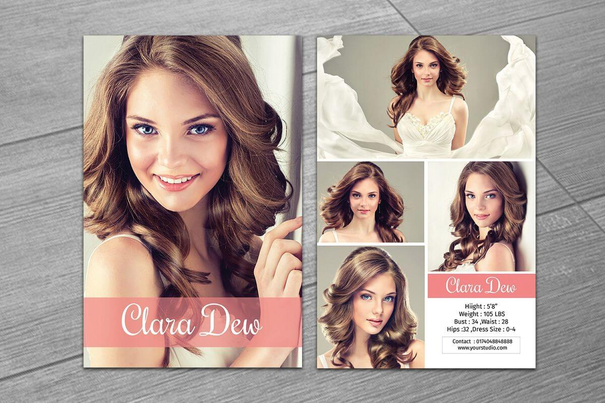 Modeling Comp Card Template, Ms Word & Photoshop Template Intended For Comp Card Template Psd