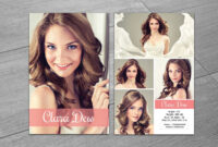 Modeling Comp Card Template, Ms Word & Photoshop Template With Free Model Comp Card Template Psd