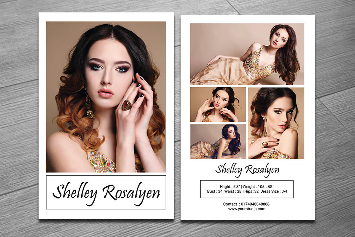 Modeling Comp Card Template On Behance With Regard To Zed Card Template
