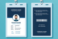 Modern And Clean Id Card Design Template pertaining to Company Id Card Design Template