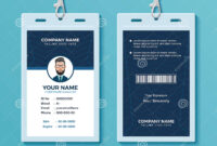 Modern And Clean Id Card Design Template Stock Vector for Conference Id Card Template