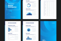 Modern Annual Report Template With Cover Design For Illustrator Report Templates
