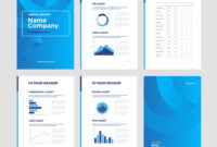 Modern Annual Report Template With Cover Design With Regard To Illustrator Report Templates