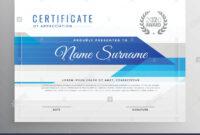 Modern Blue Horizontal Diploma Certificate Template Stock in Hockey Certificate Templates