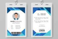 Modern Blue Id Card Design Template For Photographer Id Card Template