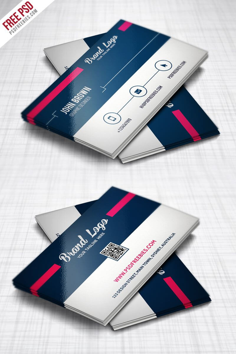 Modern Business Card Design Template Free Psd | Modern With Unique Business Card Templates Free