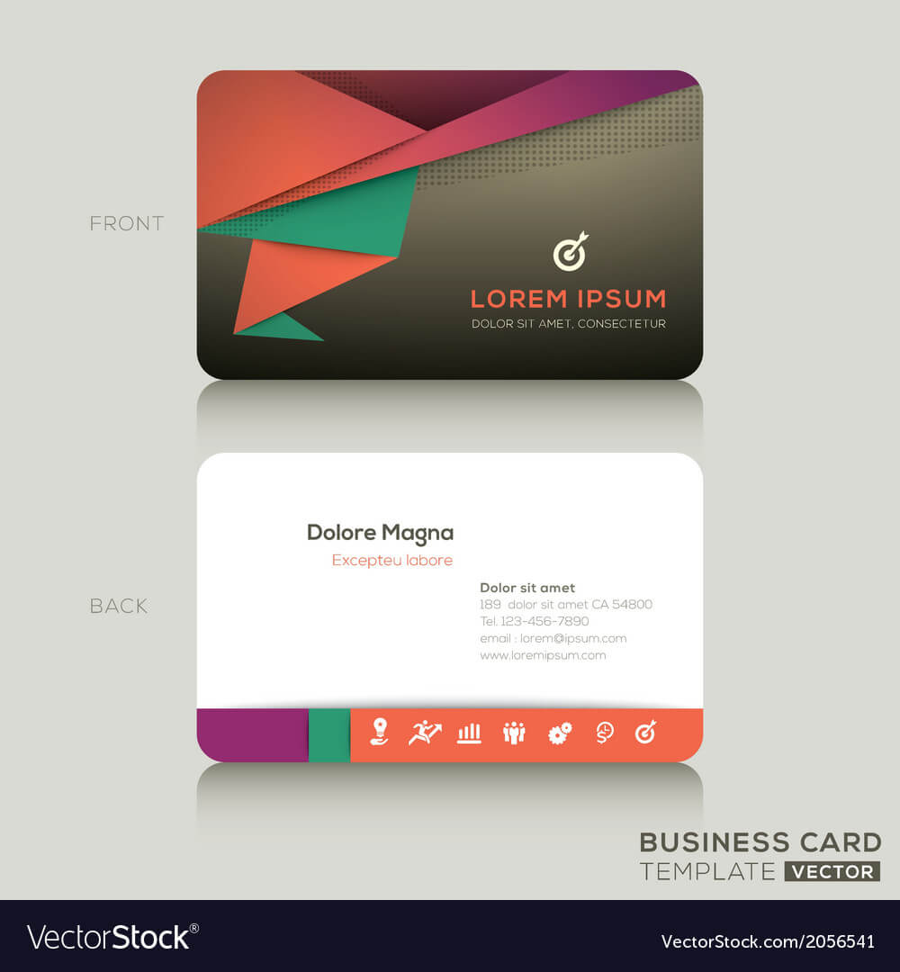 Modern Business Cards Design Template For Modern Business Card Design Templates