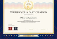 Modern Certificate Of Participation Template inside Certificate Of Participation Template Pdf