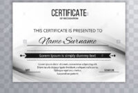 Modern Certificate Template Design Stock Photo: 213152925 within Borderless Certificate Templates