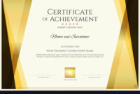 Modern Certificate Template With Elegant Border pertaining to Elegant Certificate Templates Free