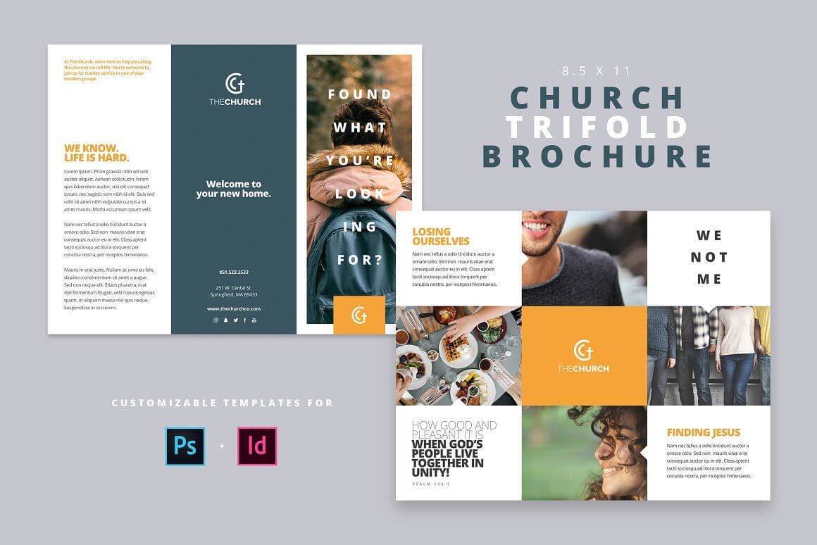 Modern Church Trifold Brochure – Brochures | Modern Church With Free Church Brochure Templates For Microsoft Word