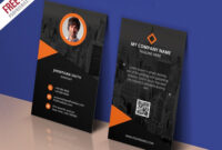 Modern Corporate Business Card Template Psd | Free Business intended for Name Card Design Template Psd