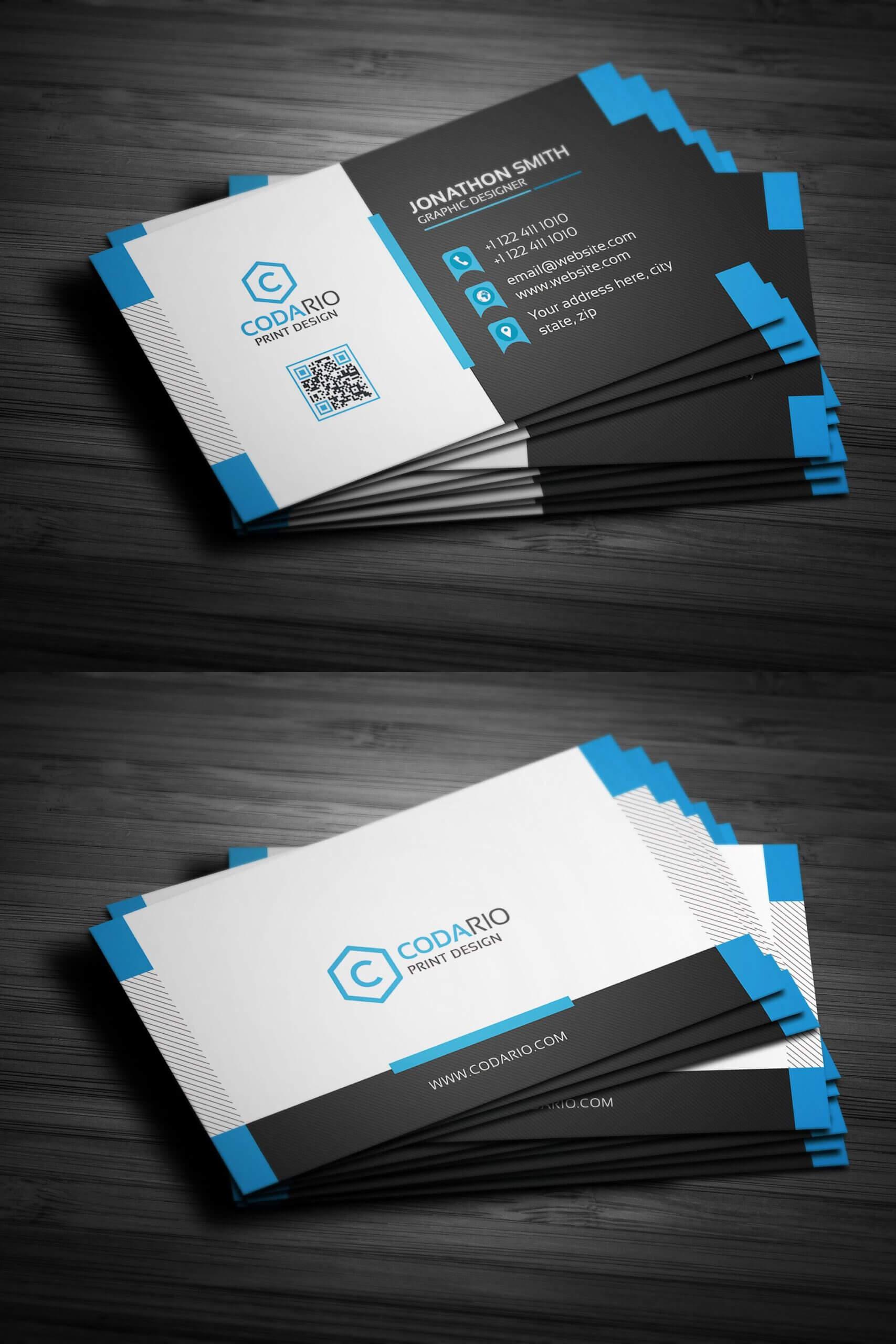 Modern Creative Business Card Template Psd | Create Business In Create Business Card Template Photoshop
