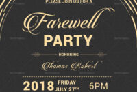 Modern Farewell Party Invitation Template | Farewell Party in Farewell Invitation Card Template
