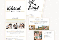 Modern Hand Lettering Referral Card Set – Strawberry Kit inside Referral Card Template Free