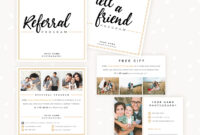 Modern Hand Lettering Referral Card Set – Strawberry Kit with Photography Referral Card Templates