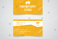 Modern Light Business Card Template Photography Stock Vector With Regard To Photographer Id Card Template