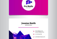 Modern Media Agency Business Card Template inside Advertising Card Template
