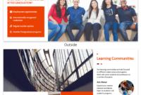 Modern Orange College Tri Fold Brochure Template pertaining to Student Brochure Template
