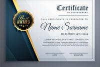 Modern Premium Certificate Award Design Template with Award Certificate Design Template