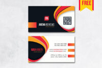 Modern Professional Business Card – Free Download | Arenareviews within Professional Business Card Templates Free Download