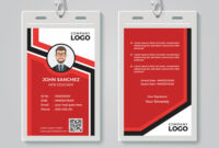 Modern Red Id Card Template inside Media Id Card Templates