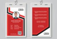 Modern Red Id Card Template Inside Media Id Card Templates