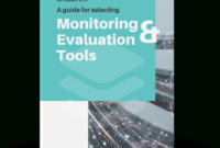 Monitoring And Evaluation Tools regarding M&e Report Template