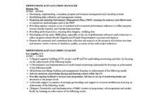 Monitoring & Evaluation Resume Samples | Velvet Jobs Regarding M&e Report Template