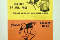Monopoly Replacement Chance & Community Chest Cards Full Set throughout Get Out Of Jail Free Card Template