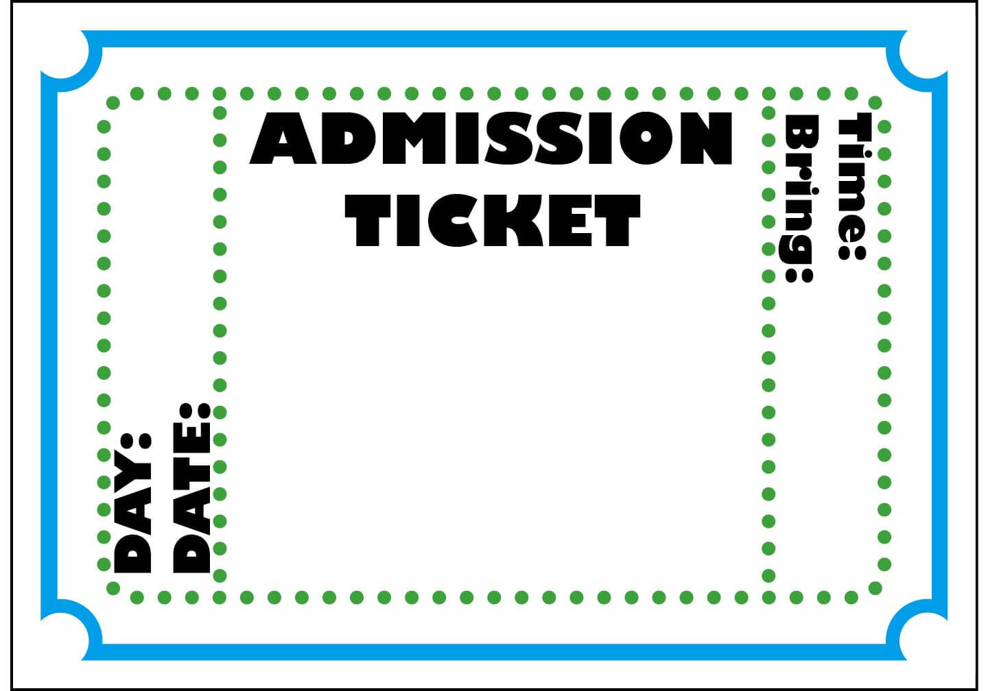 Mormon Share } Admission Ticket | Ticket Template, Admit One Regarding Blank Admission Ticket Template