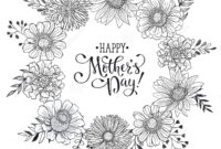 Mother's Day Card Stock Vector. Illustration Of Monochrome with Mothers Day Card Templates