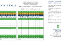 Mountain Falls Scorecard – Elite Golf Management regarding Golf Score Cards Template