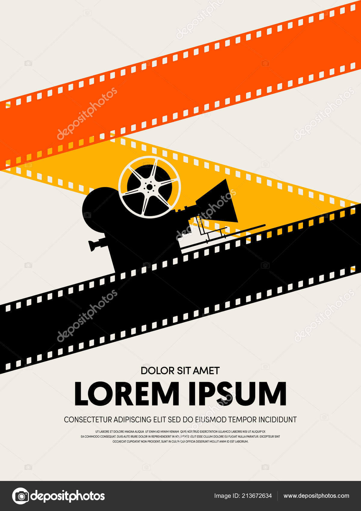 Movie Film Festival Poster Template Design Modern Retro For Film Festival Brochure Template