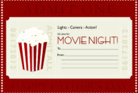 Movie Gift Certificate Templates | Gift Certificate Templates regarding Movie Gift Certificate Template