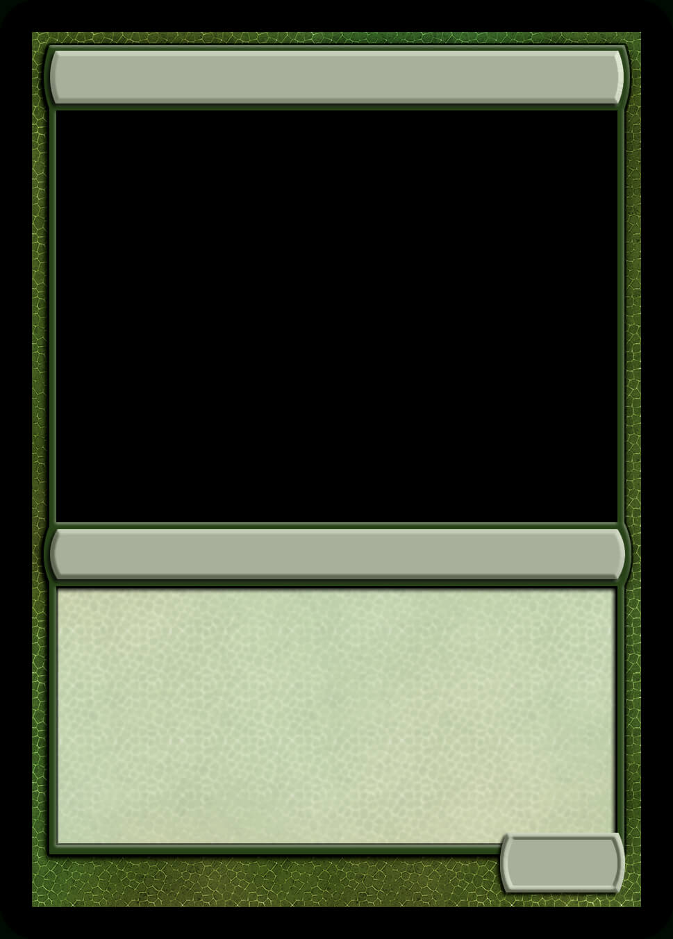 Mtg Monogreen Creature Template | Magic Cards, Magic The Intended For Magic The Gathering Card Template