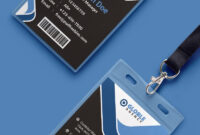 Multipurpose Dark Office Id Card Free Psd Template   Id Card throughout Id Card Design Template Psd Free Download
