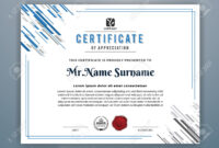 Multipurpose Modern Professional Certificate Template Design.. with regard to Design A Certificate Template