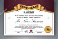 Multipurpose Professional Certificate Template Design For regarding Professional Award Certificate Template