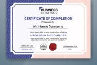 Multipurpose Professional Certificate Template inside Boot Camp Certificate Template