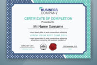 Multipurpose Professional Certificate Template with Boot Camp Certificate Template