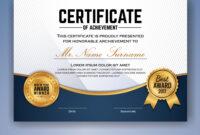 Multipurpose Professional Certificate Template within Professional Award Certificate Template