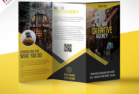 Multipurpose Trifold Business Brochure Free Psd Template For 3 Fold Brochure Template Free